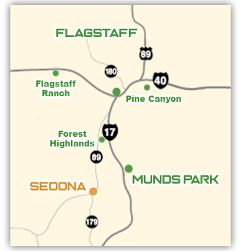 Flagstaff Window Cleaning Service Area Map