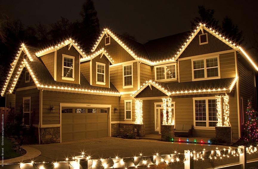 Christmas Lights on home in Flagstaff AZ
